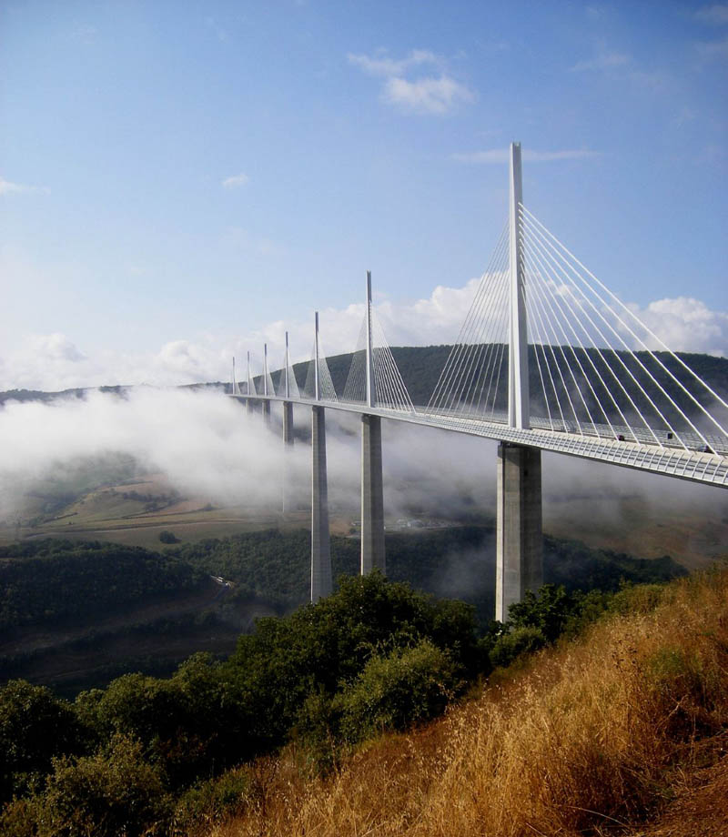 construction of millau viaduct world s tallest Millau viaduct in france is famous as the tallest bridge on earth know about its design, construction and history through these 10 interesting facts  broke the world record for world's tallest bridge pylon by more than 50m.