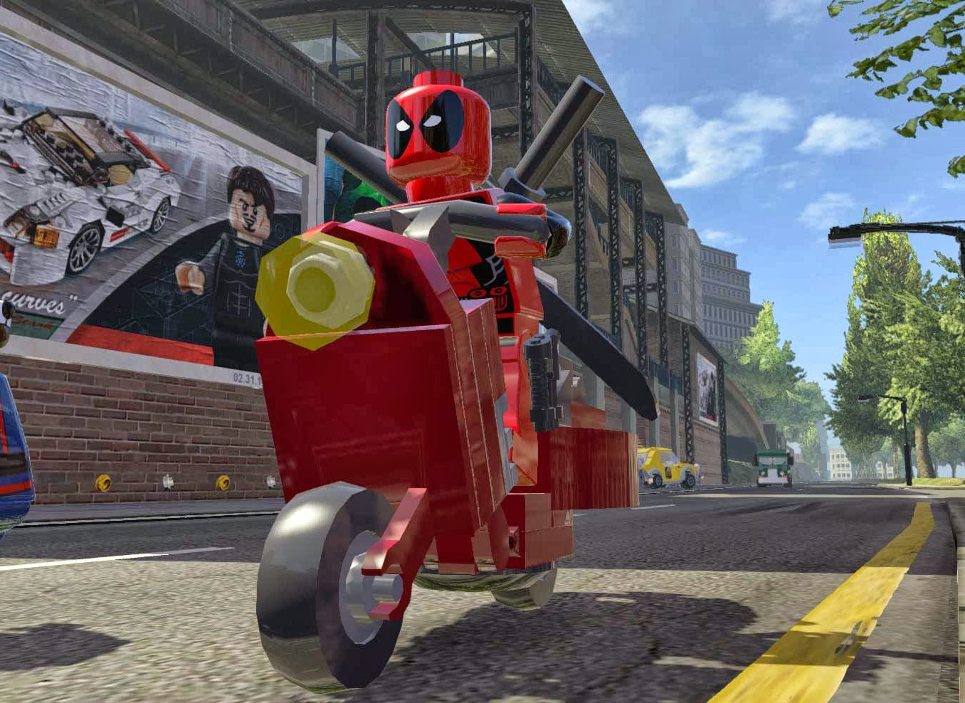 how to unlock deadpools scooter in lego marvel superheroes