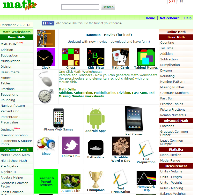 learning never stops great math websites for students of any age they also have math online worksheets quizzes and other forms of materials to help math students