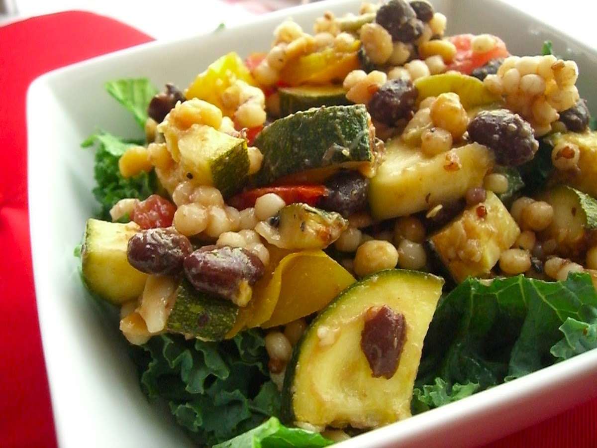 Grilled Zucchini Israeli Couscous Salad