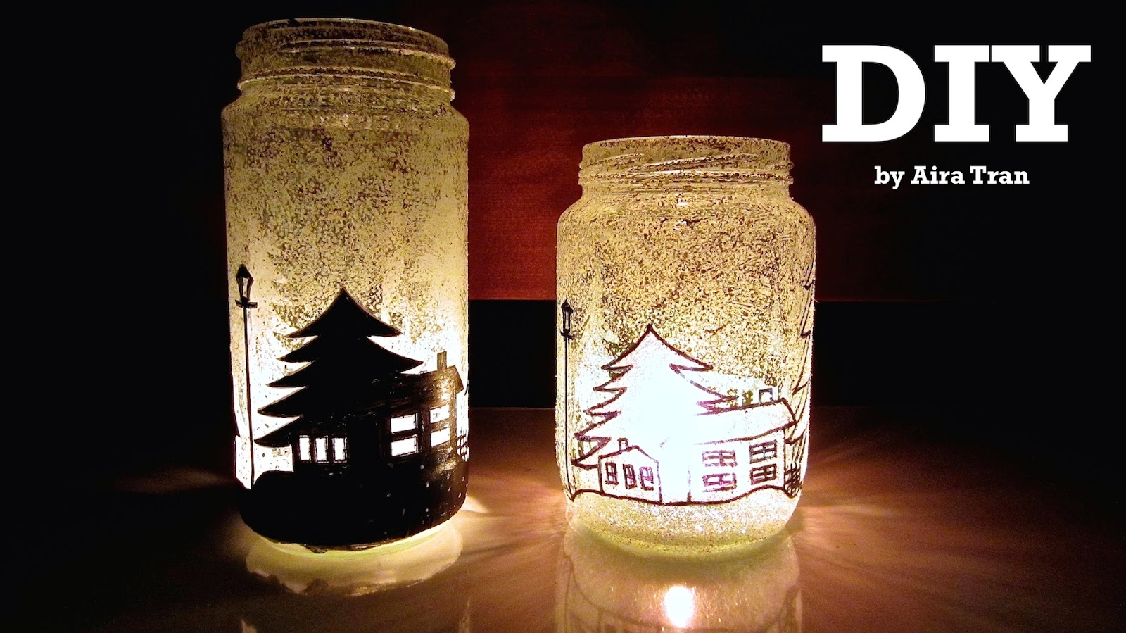 diy christmas candle jar template - Christmas Jar Decorations