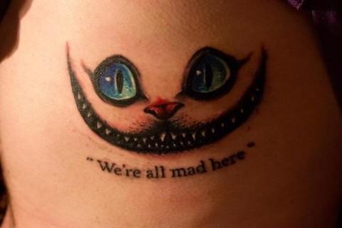 Tag Tatuagem Do Gato Do Filme Alice No Pais Das Maravilhas