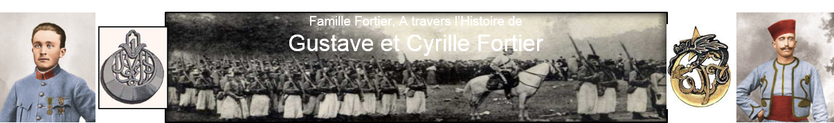 Histoire Gustave et Cyrille FORTIER 1914 - 1918