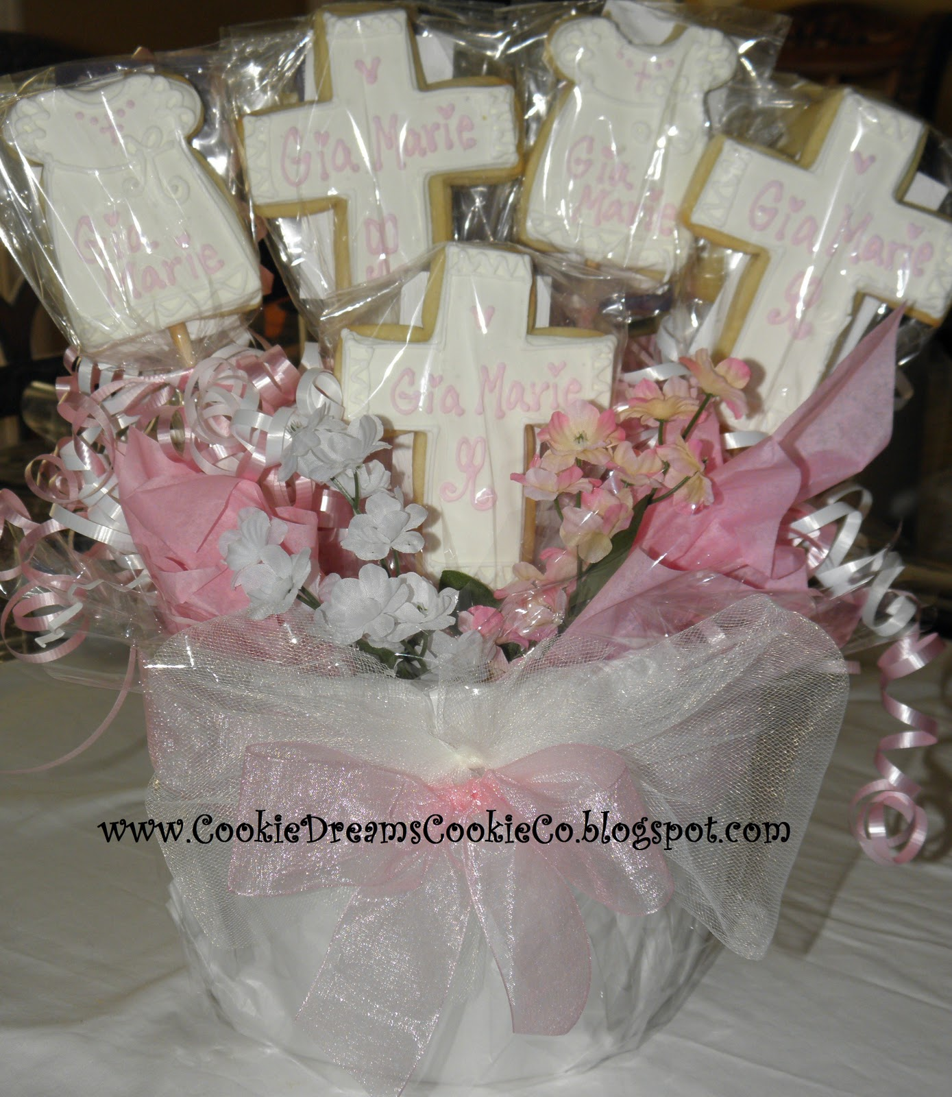 Boy baptism centerpieces on pinterest baptism party baptism centerpieces and baptism decorations - Decorations for a baptism ...