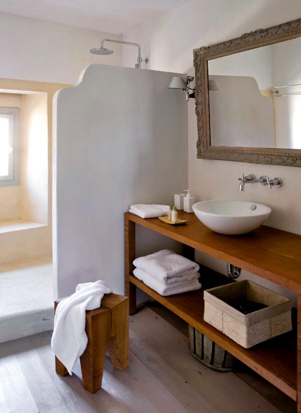 Hotel rural de luxe cerca de Barcelona -baño rustico