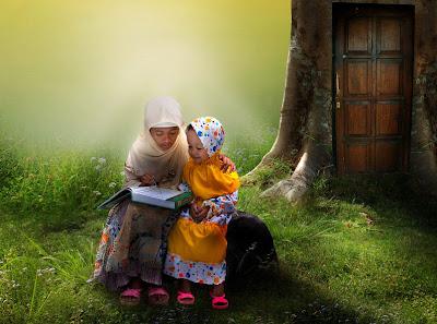 Niñas estudiando - Little girls studing