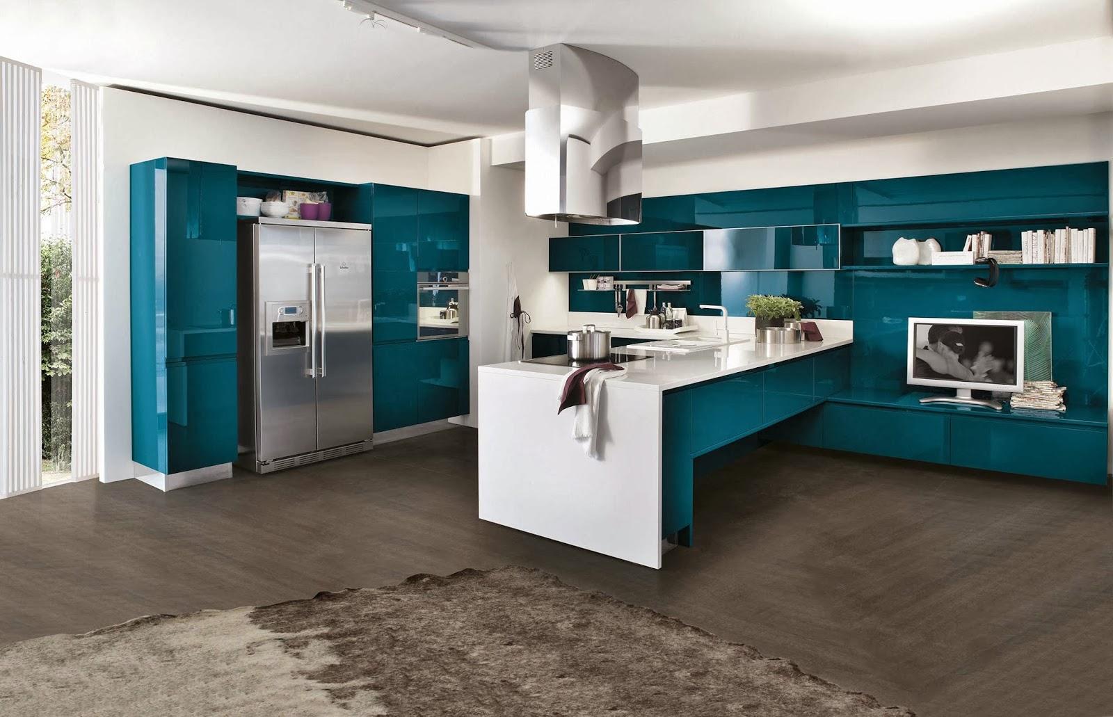 Cucine Moderne Le Migliori Soluzioni Per Arredare La Tua Cucina  #084E5C 1600 1031 Isole E Carrelli Di Cucina