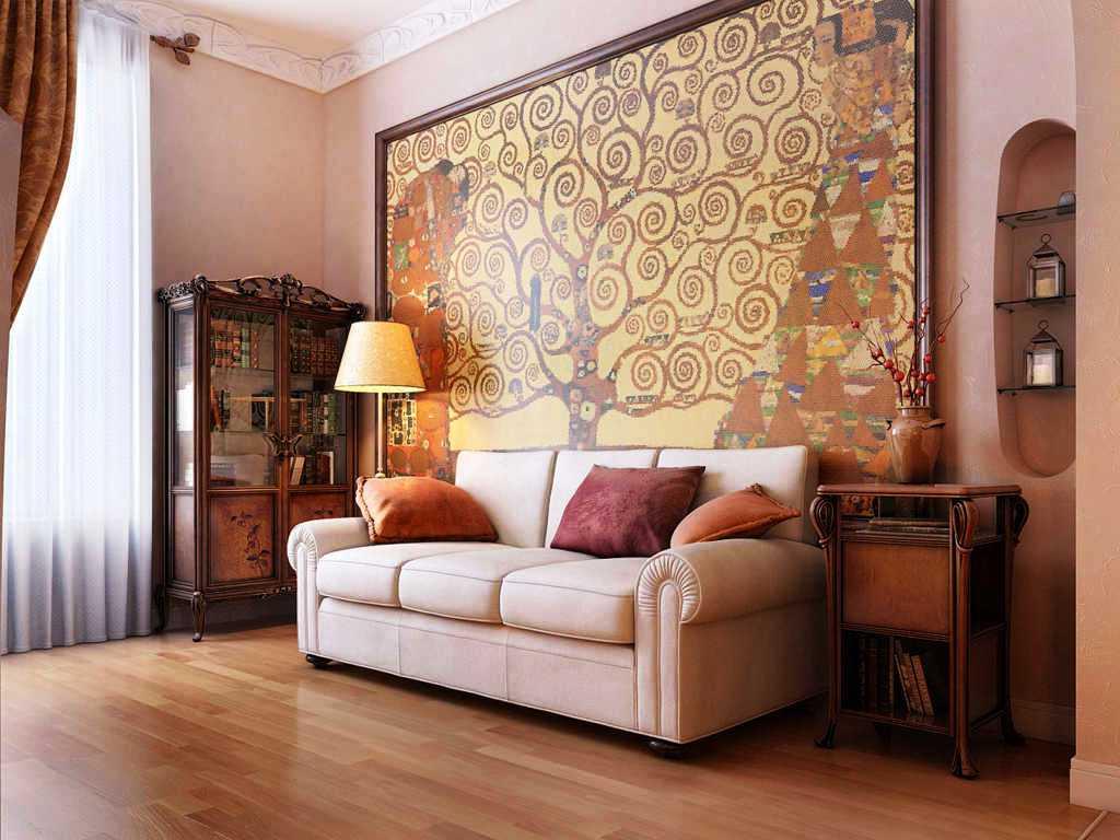 Model Desain Wallpaper Dinding Ruang Tamu Minimalis