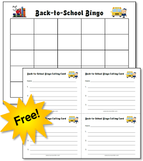 Back to School Bingo is a fun game for helping students learn their classmates' names ... and it's free!