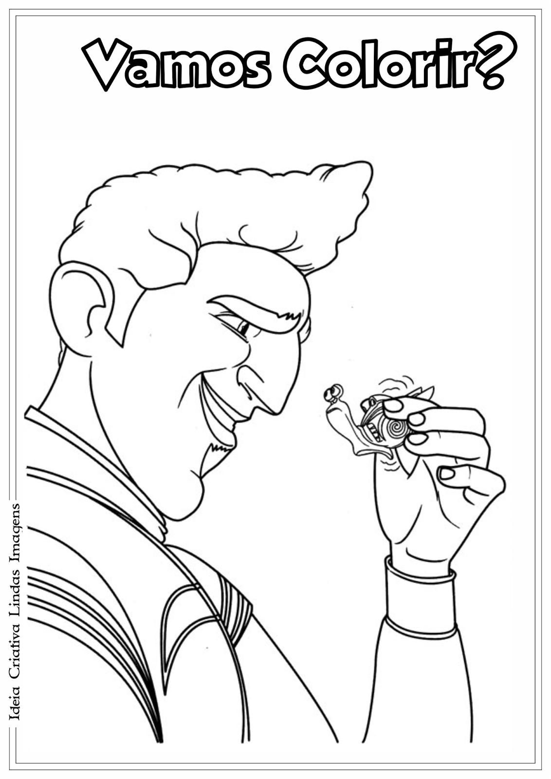 Guy Gagne - Filme Turbo desenho para colorir