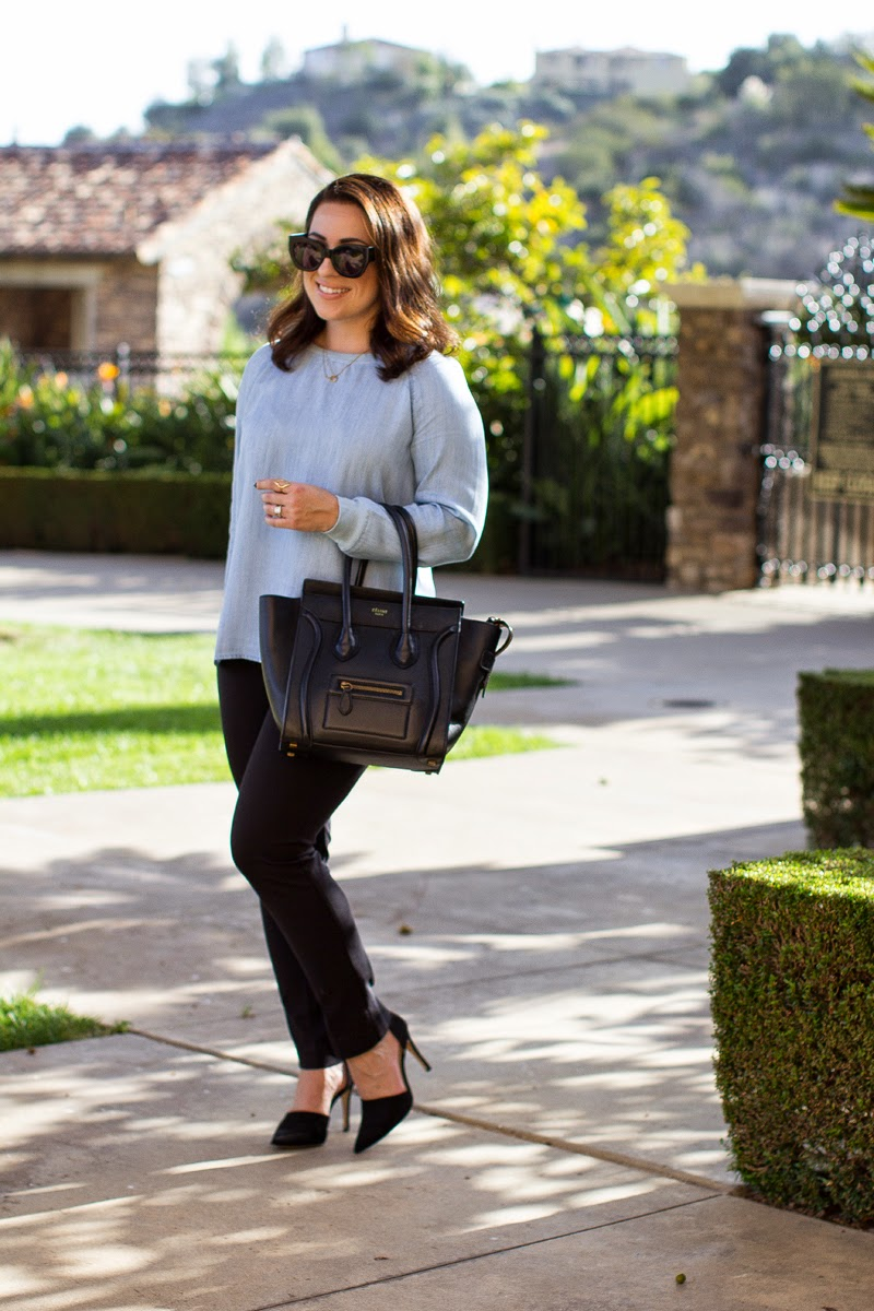 chambray outfit ideas for work