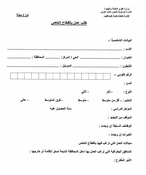 """القوى العاملة """" 42 الف فرصه عمل لجميع المحافظات براتب مجزى"""" 2015 استمارة التقديم"""