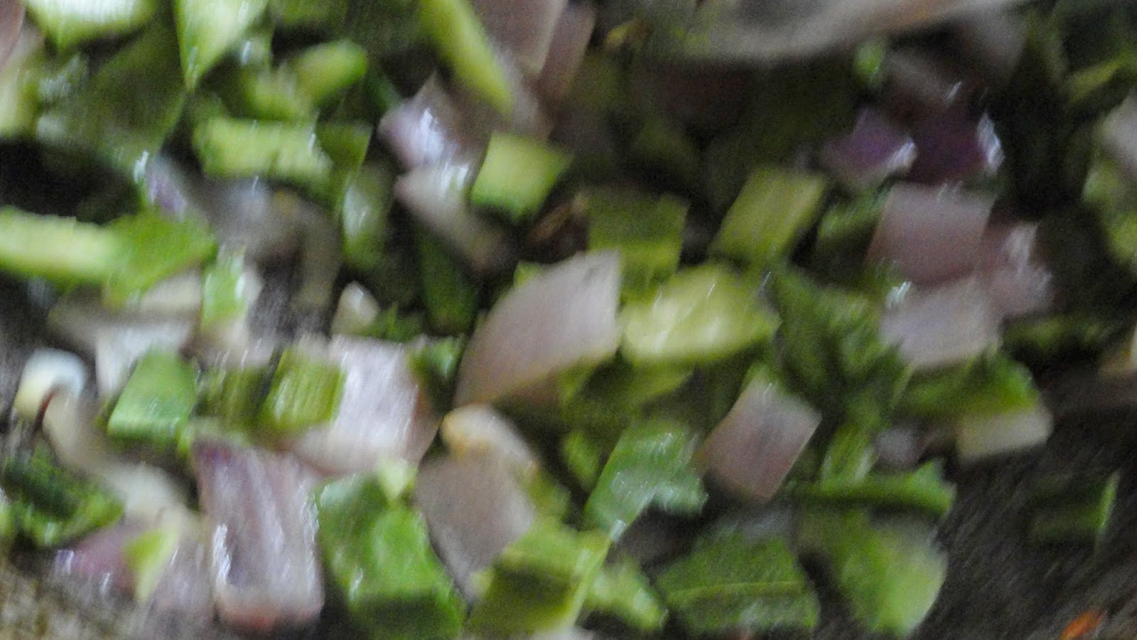 add ridge gourd peel and saute it