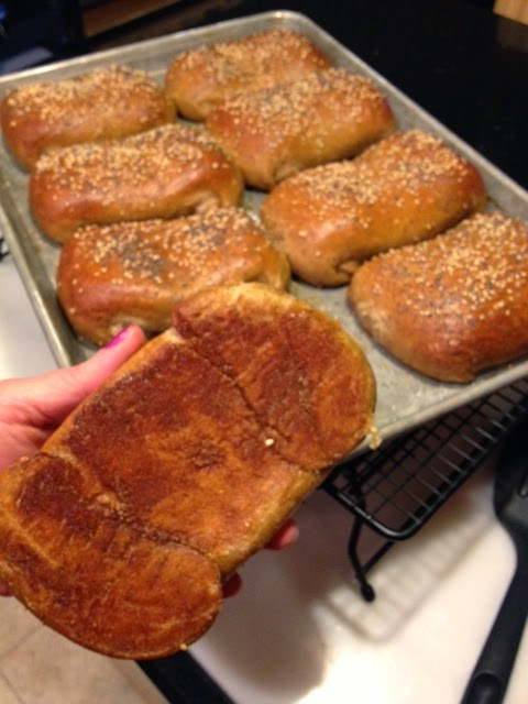 Pretzel Pockets Stuffed with Ham and Asiago Recipe via Kudos Kitchen By Renee