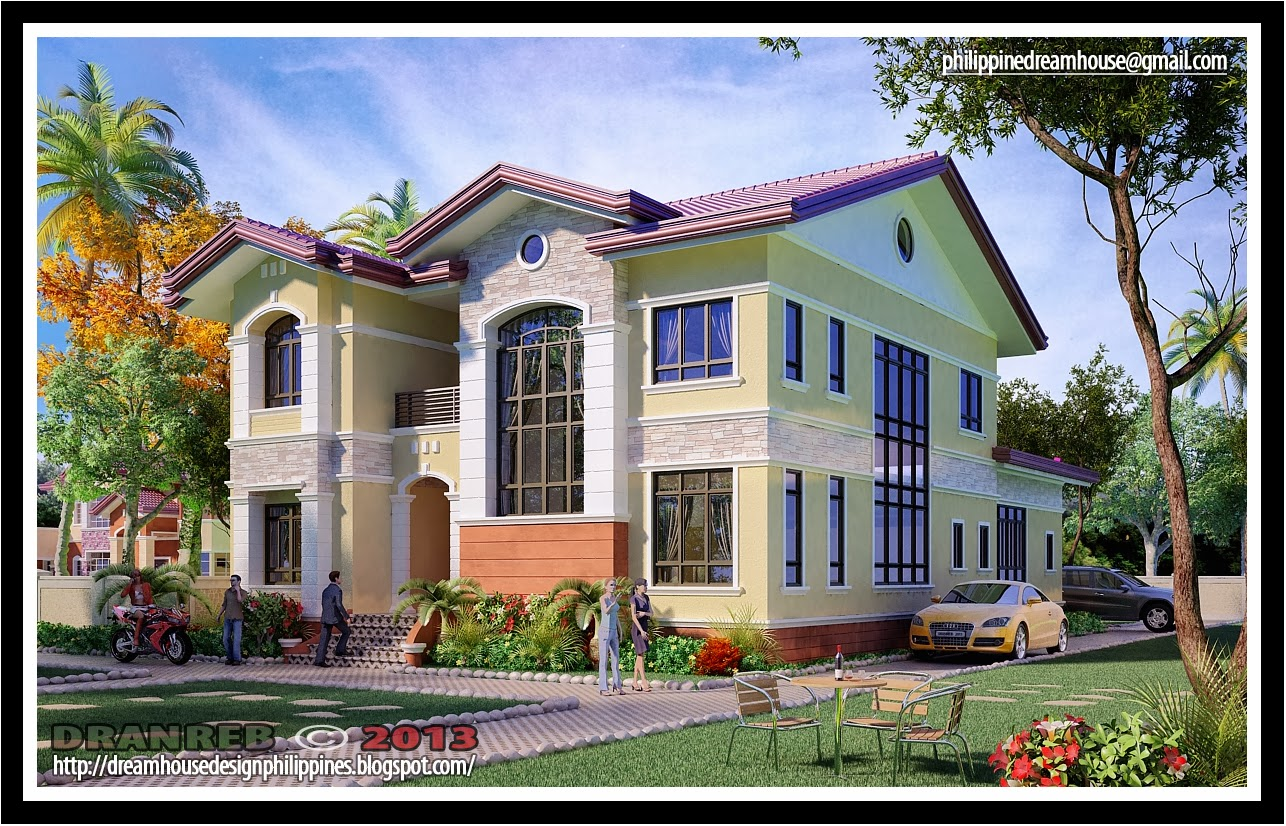Philippine dream house design two storey house in pangasinan for Pictures of two story houses in the philippines