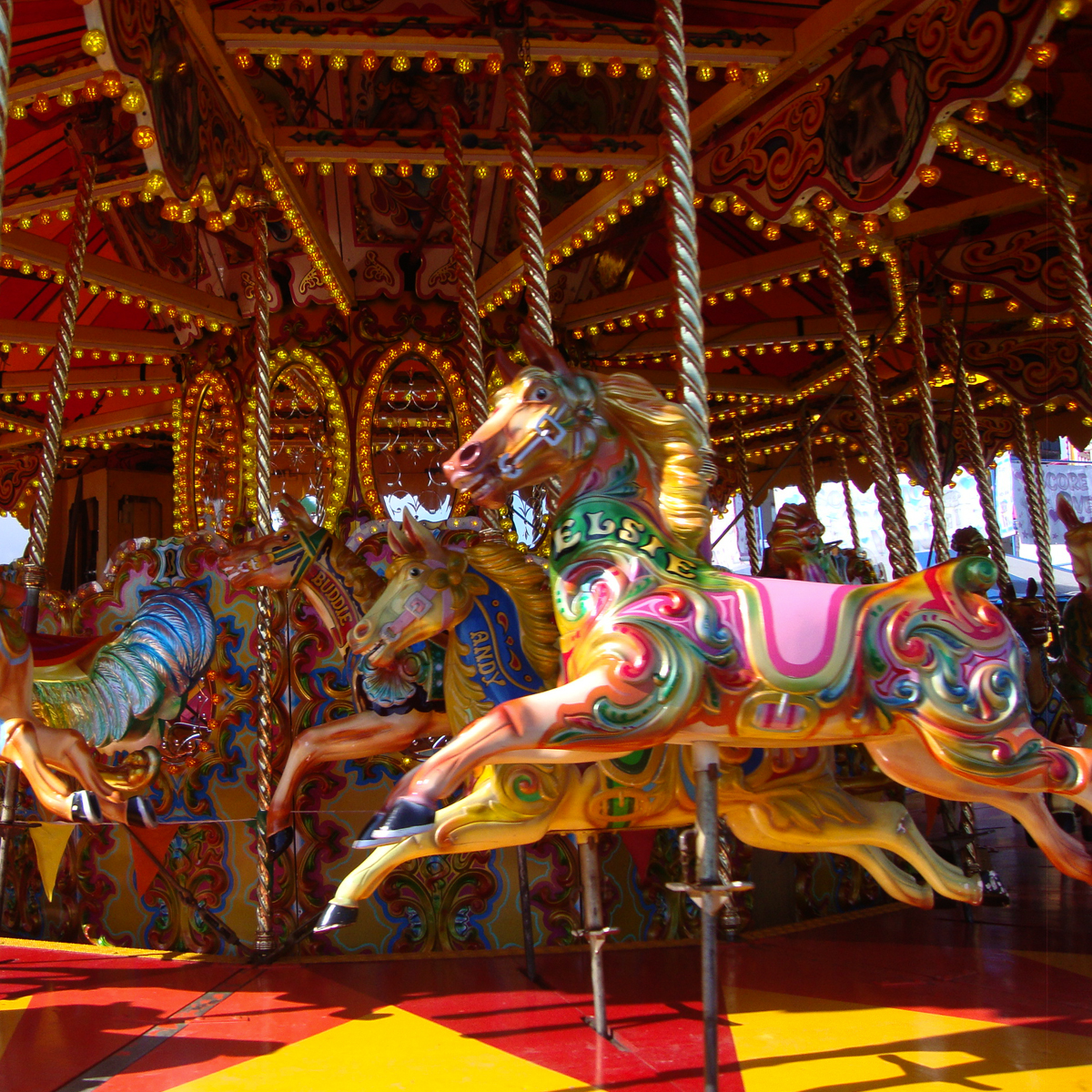 red road studio : Carousel Horses At The Links Market