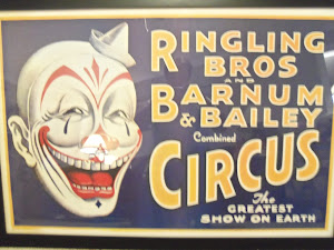 Barnum and Bailey Circus Clown Vintage Poster