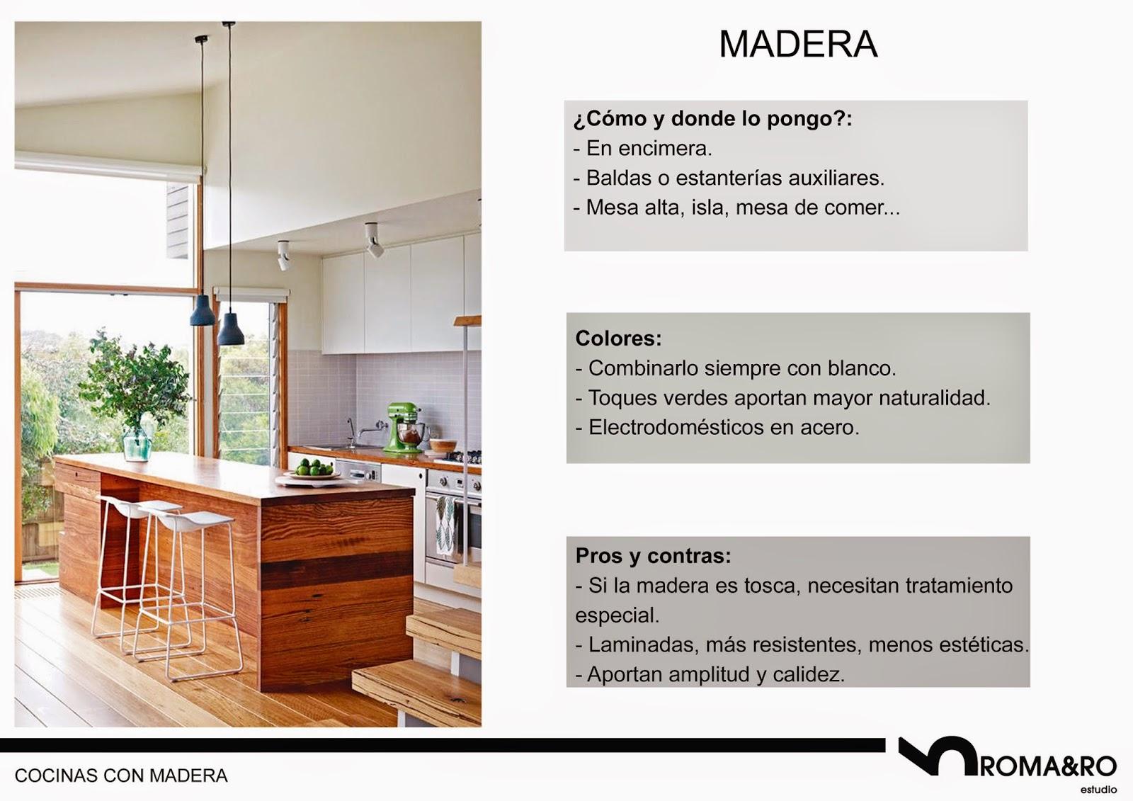 Muebles de madera para cocinas