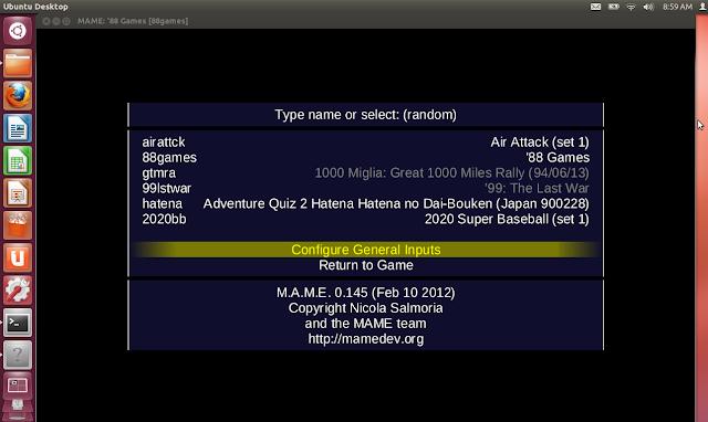 MAME en ubuntu 12.04, 13.04, 13.10