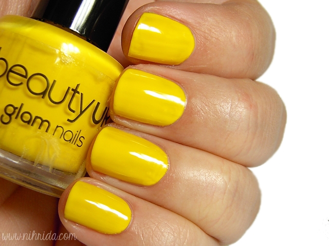 Beauty UK Nail Polish in Yellow Peril