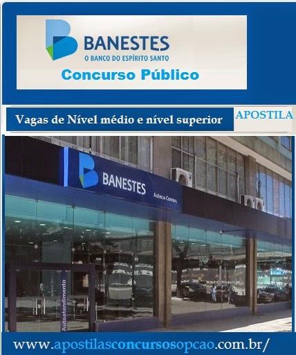Apostila do BANESTES, 2015 Técnico Bancário, nével medio