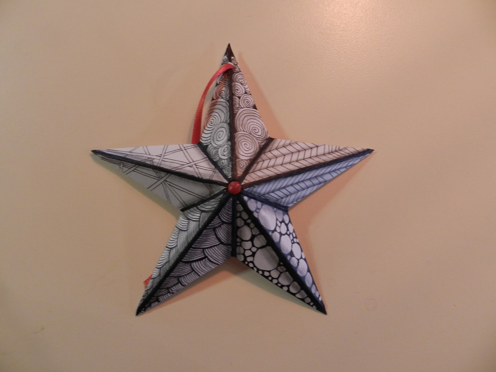 Zentangle Christmas Ornaments Tangled star ornament tutorial