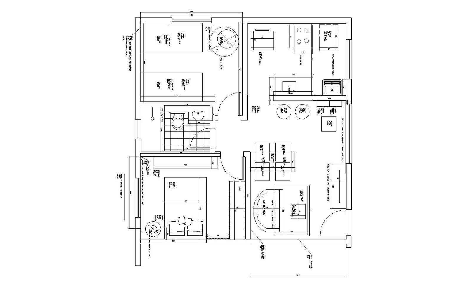#3F3F3F Nessa planta uma versão mais compacta (fiz com dimensões e preços 1600x1035 px Balcão Cozinha Americana Tok Stok_1897 Imagens