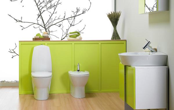 Baños Color Verde Limon:Lime Green Bathroom Ideas