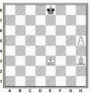 Final de alfil y peón de torre contra rey, ganan blancas