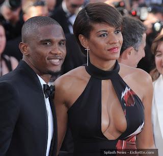 Samuel Eto'o with Wife