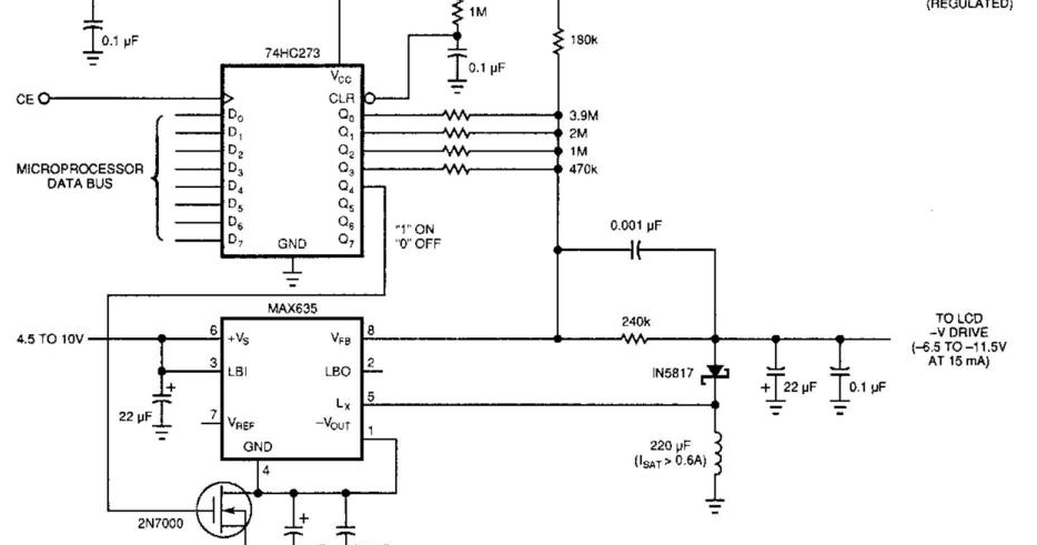 Schematic Diagram  Build A Lcd Display Power Supply Wiring