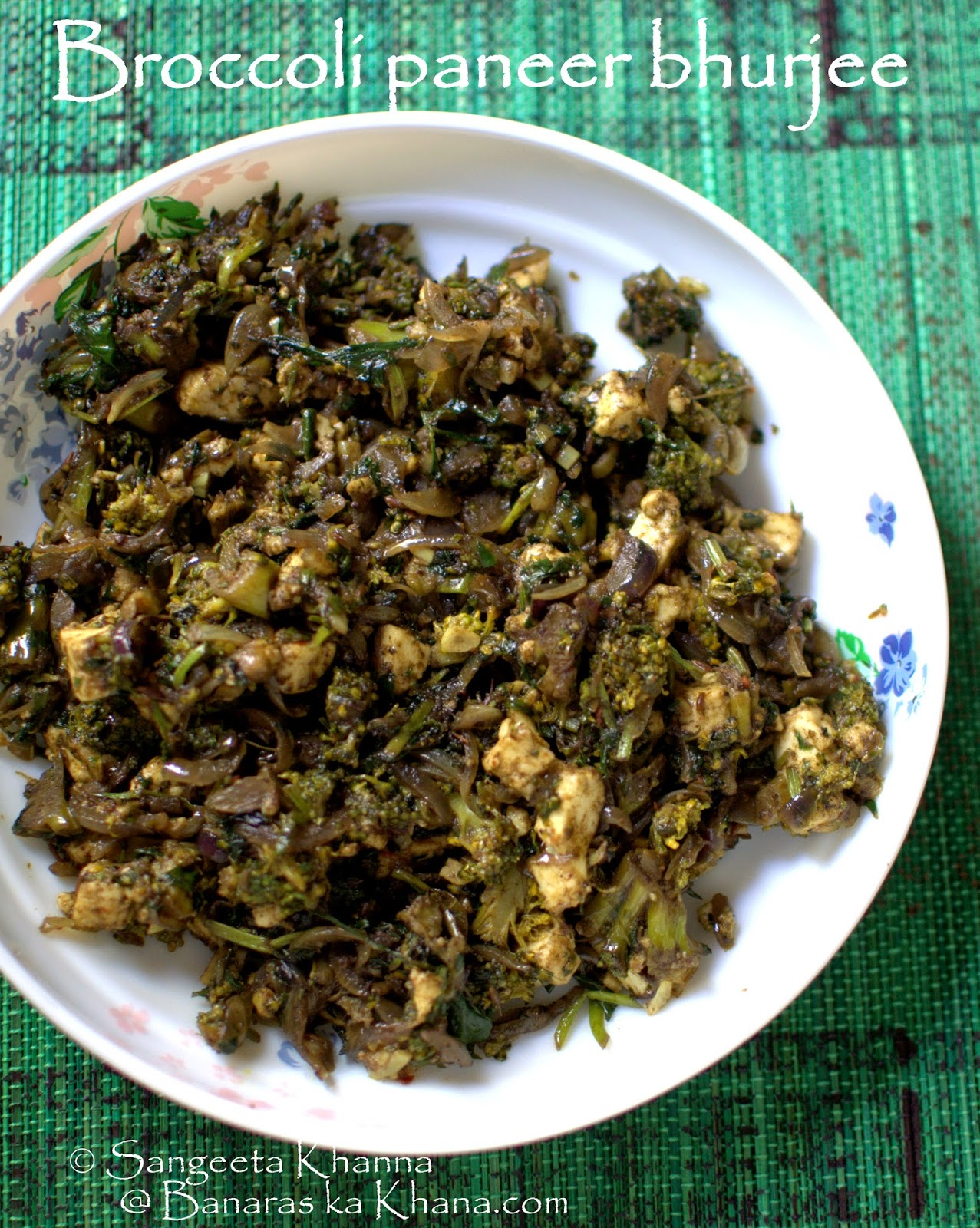 broccoli paneer bhurji | a broccoli recipe with indian curry spices