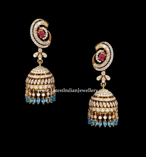 Delightful Diamond Jhumkis earrings
