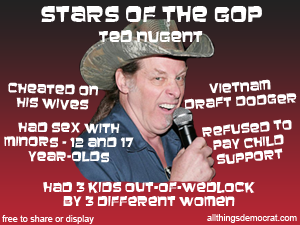 Ted Nugent blows!