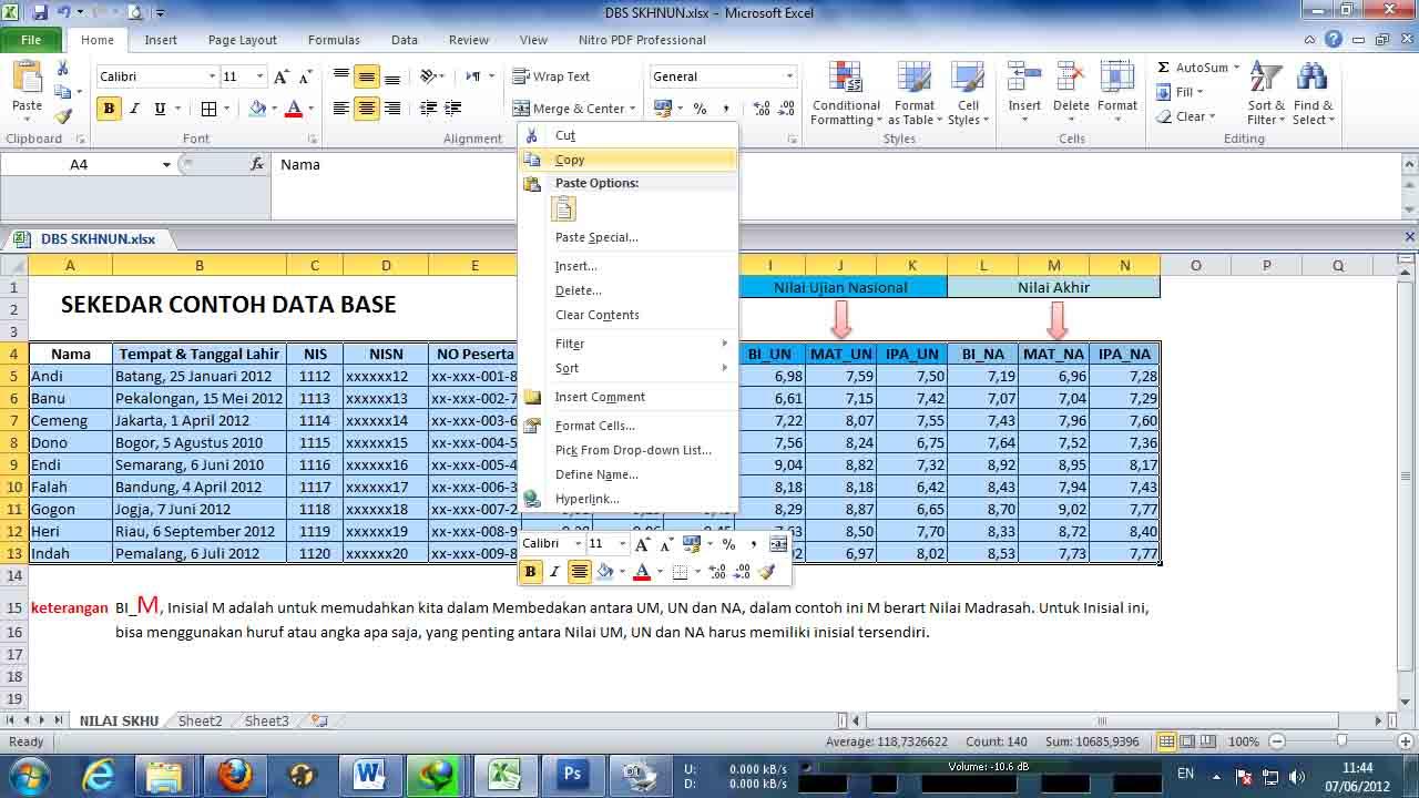 Mudah Membuat SKHUN dengan fasilitas Mail Merge (Mailings