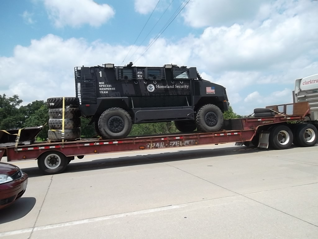 Check Out This Homeland Security Armored Vehicle Being Hauled Through Kentucky 