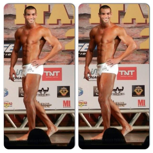 Breno Neves no palco do  Mister Itaboraí de Musculação Fitness, onde foi vice-campeão Foto: Instagram/Reprodução