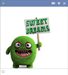 Sweet Dreams Monster Emoticon for Facebook