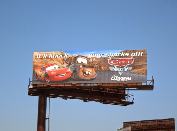 Disney Cars Land 2014 billboard