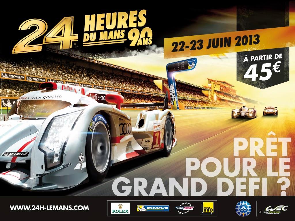 Affiche officielle des 24 Heures du Mans 2013
