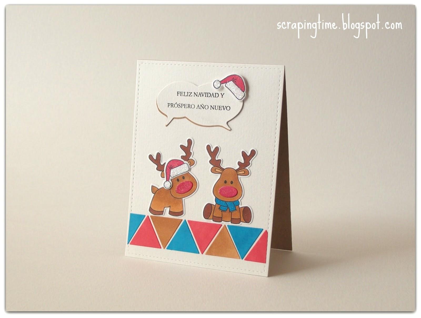 Tarjetas navide as con cualquier material la pareja - Postales navidenas creativas ...
