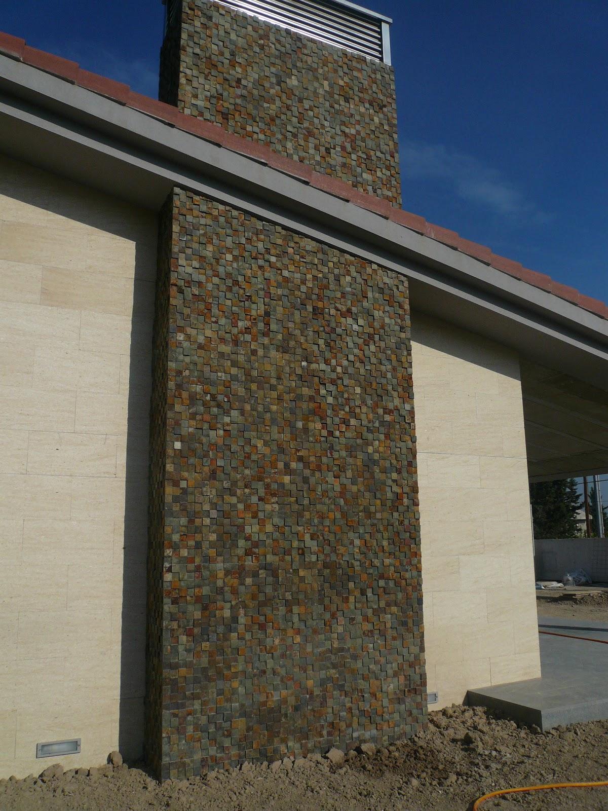 Rowlands piedra natural muros y pavimentos pizarra taco - Fachadas de pizarra ...