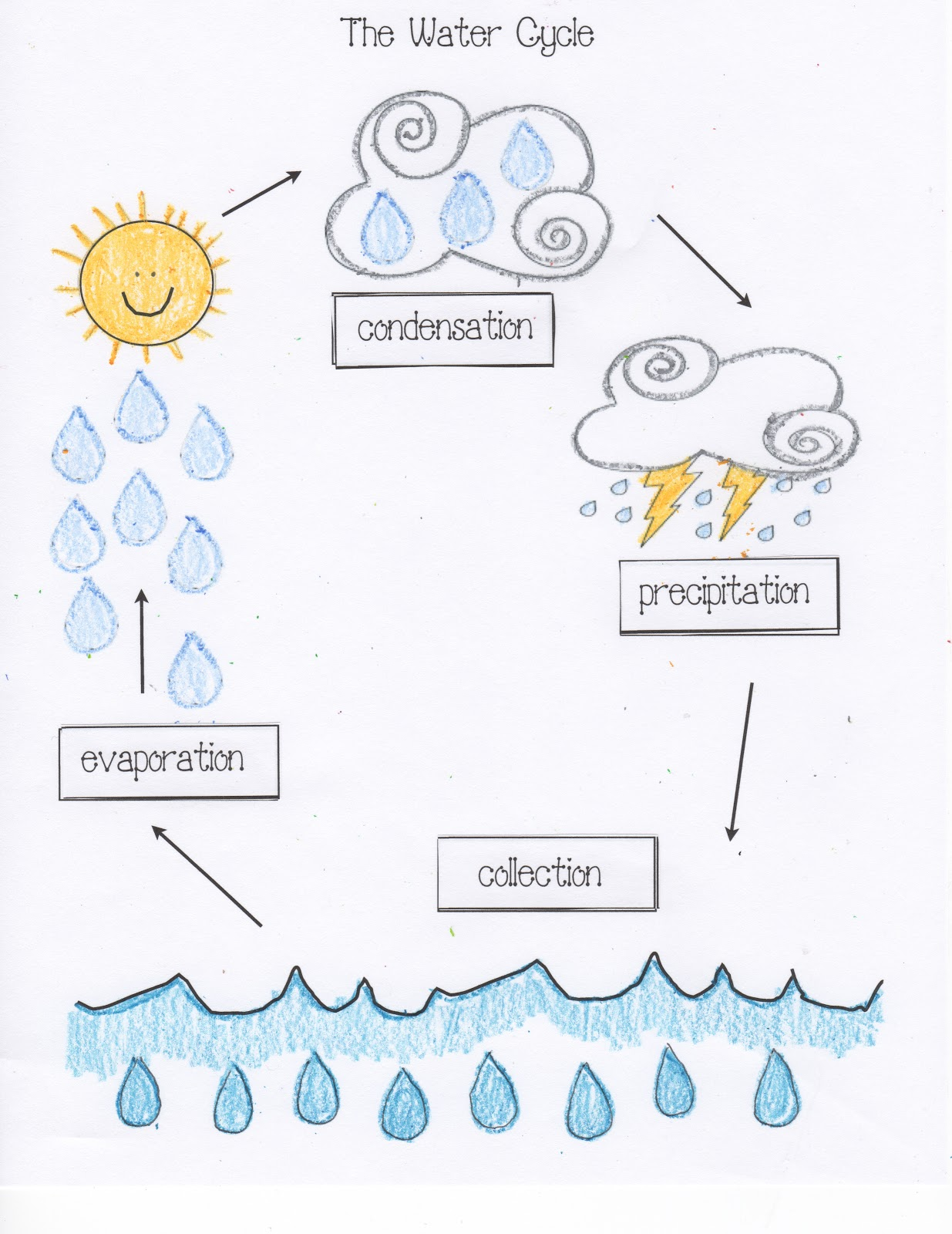 classroom freebies water cycle activities. Black Bedroom Furniture Sets. Home Design Ideas