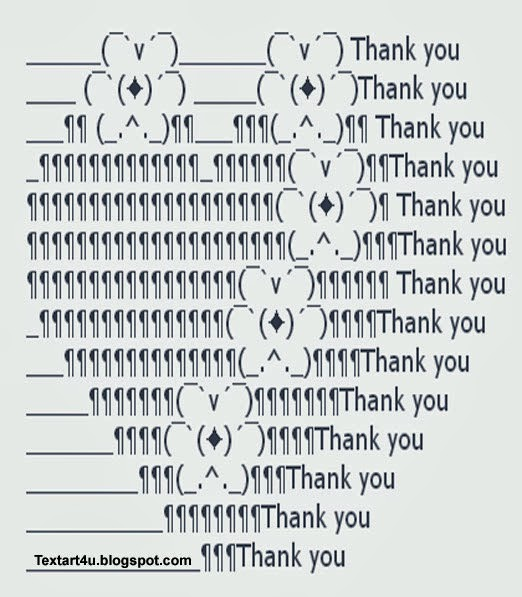 thank you ascii heart and flowers cool ascii text art 4 u