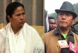 Chief minister Mamata Banerjee and Gorkha Janmukti Morcha president Bimal Gurung