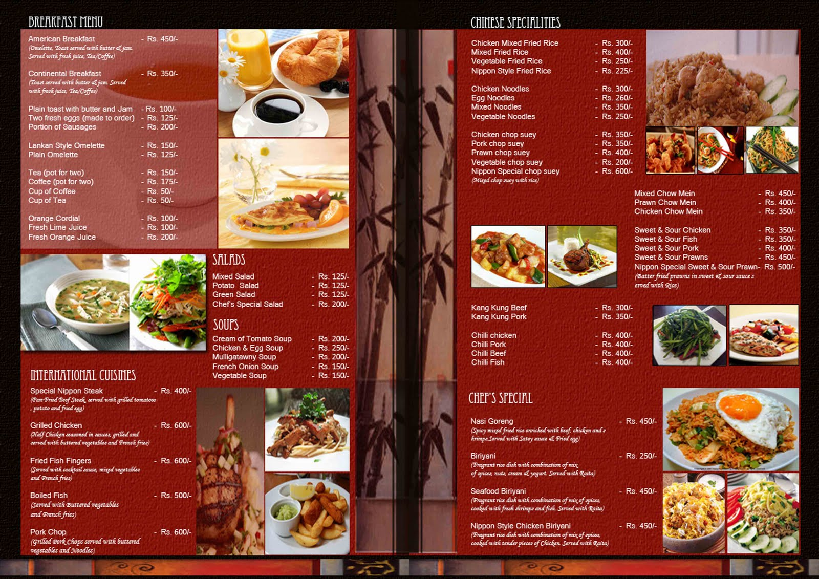 Contoh Menu Restaurant