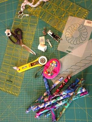 Ferramentas e material para patchwork