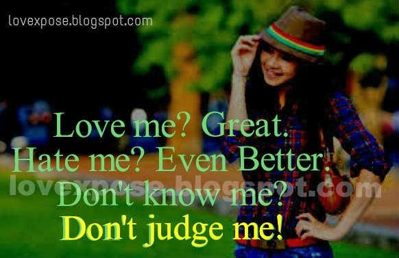 don't judge me girl