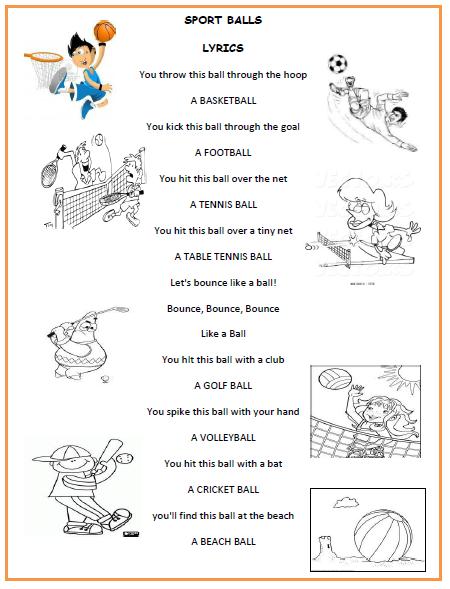 English Fourth Gradersu00b4 Zone: SPORTS BALLS SONG