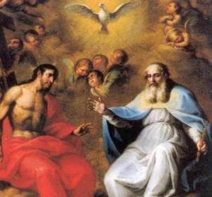 El Credo (Dios y Jesús a su diestra)